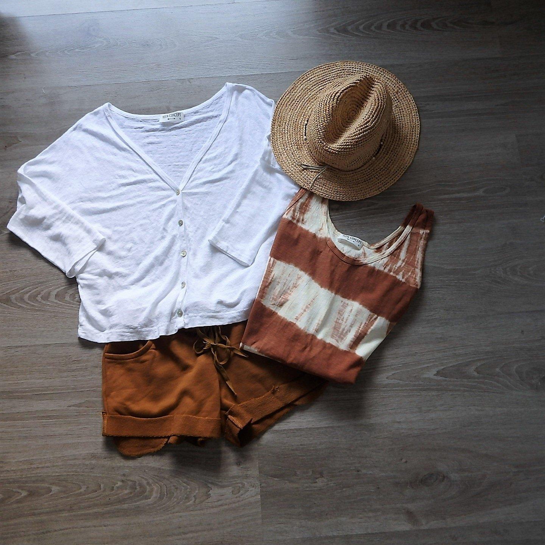 Vestido Tie Dye de algodóncolor teja