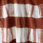 Vestido Tie Dye de algodóncolor Teja y blanco
