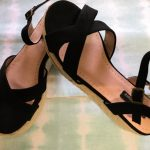 sandalia plataforma suela esparto negra