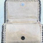 bolso piel cadena beige