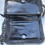 bolso piel cadena negro