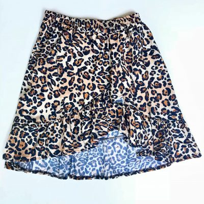 mini FALDA volante print animal