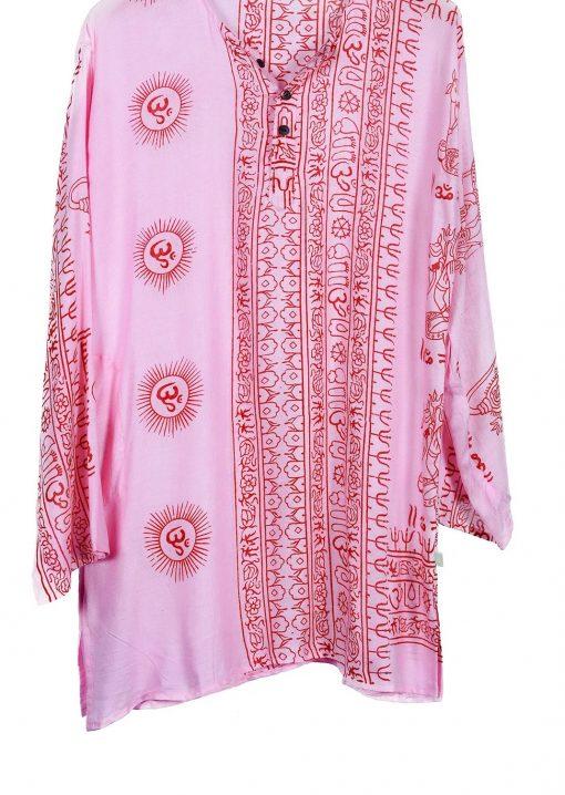túnica estampado indio algodón
